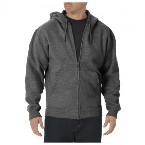 Dickies Midweigth Fleece Men's Full Zip Hoodie in Dark Heather Gray - 2X-Large