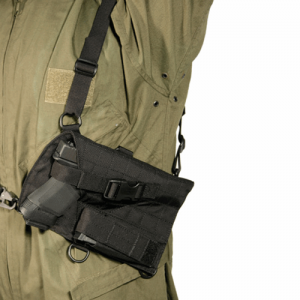 Blackhawk Harness Right-Hand Chest Holster for Most Handguns in Black - 40SH04BK