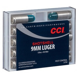 CCI Speer 9mm Shot Shell, 53 Grain (10 Rounds) - 3790