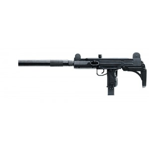 "Walther USA UZI Tactical .22 Long Rifle 20-Round 16"" Semi-Automatic Rifle in Black - 5790300"