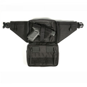 Blackhawk Urban Carry Fanny Pack Ambidextrous-Hand Bags & Pouches Holster for Small Revolvers/Sub-Compact Autos in Black Nylon - 60WF04BK