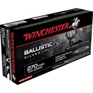 Winchester Supreme .270 Winchester Short Magnum Ballistic Silvertip, 150 Grain (20 Rounds) - SBST2705A