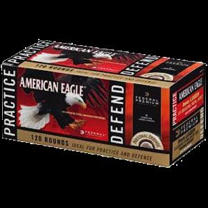 Federal Cartridge American Eagle .380 ACP Full Metal Jacket/Hydro-Shok JHP, 90 Grain (120 Rounds) - PAE38090
