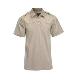 5.11 Tactical PDU Rapid Men's Short Sleeve Polo in Silver Tan - X-Large