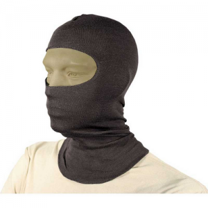HellStorm  Balaclava -Bibbed w  Balaclava 3oz 18  w/Nomex, Black, Flame/flash protection for the head and neck, Constructed entirely of DuPont NOMEX fabric, Will not support flame or combust up to 800  F (427 C), Flat-seam stitching wont irritate when wea