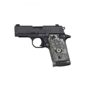 "Sig Sauer P938 Micro-Compact Extreme 9mm 7+1 3"" Pistol in Black Nitron (Black/Grey G10 Grip) - 9389XTMBLKGRYAMBI"