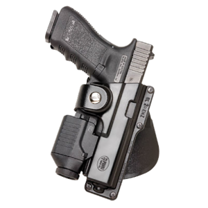 Fobus USA Roto Paddle Right-Hand Paddle Holster for Glock 19, 23, 32/Ruger American in Black (W/ Light or Laser) - GLT19RP