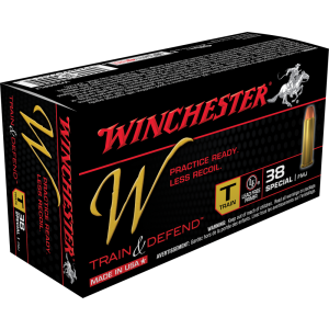 Winchester W Train & Defend .38 Special Full Metal Jacket, 130 Grain (50 Rounds) - W38SPLT