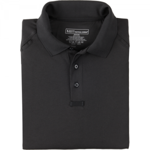5.11 Tactical Performance Men's Short Sleeve Polo in Black - X-Large