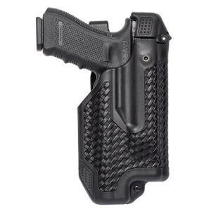"Blackhawk Epoch L3 Molded Light Bearing Left-Hand Belt Holster for Smith & Wesson M&P in Black Basketweave (5"") - 44E025BW-L"