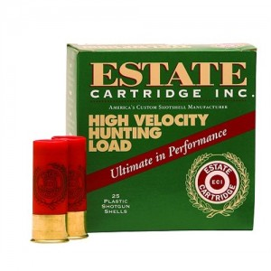 "Estate Cartridge High Velocity .12 Gauge (2.75"") 4 Shot Lead (250-Rounds) - HV124"