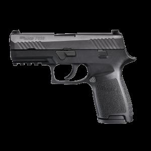 "Sig Sauer P320 Compact MA Compliant 9mm 15+1 3.9"" Pistol in Black Nitron (SIGLITE Night Sights) - 320C9BSSMSMA"