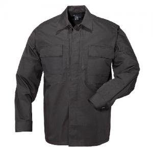 5.11 Tactical Ripstop TDU Men's Long Sleeve Shirt in Black - X-Large