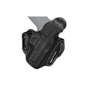 """Desantis Gunhide 1 Thumb Break Scabbard Right-Hand Belt Holster for FN Herstal FNP 45 in Black Leather (4.5"""") - 001BA31Z0"""