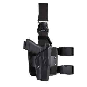 Model 6385 ALS® OMV Tactical Holster with Quick Release Strap Finish: STX Tactical Black Gun Fit: Glock 19, 23 (4  bbl) Hand: Right - 6385-283-131