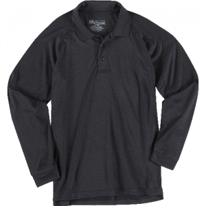 5.11 Tactical Performance Men's Long Sleeve Polo in Black - Small