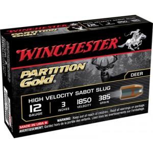"""Winchester Supreme Partition Gold .12 Gauge (3"""") Slug (Sabot) Copper (5-Rounds) - SSP123"""