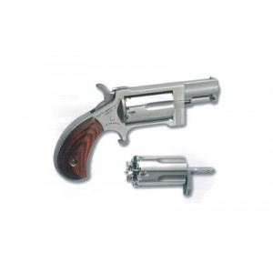 "North American Arms Mini-Revolver .22 Long Rifle/.22 Winchester Magnum 5-Shot 1"" Revolver in Stainless - NAA-SWC"