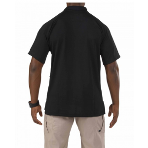 5.11 Tactical Performance Men's Short Sleeve Polo in Black - 2X-Large