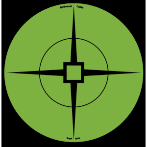 "Birchwood Casey 33936 Target Spots 6"" Green Crosshair Self-Adhesive 10 Pack"