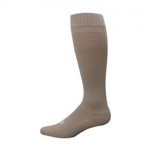 UA Men's HeatGear Boot Sock Color: Coyote Brown Size: Medium