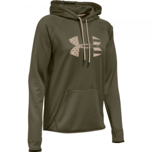 Under Armour Big Logo Women's Pullover Hoodie in Marine OD Green - Large