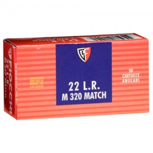 Fiocchi Ammunition Super Match .22 Long Rifle Round Nose, 40 Grain (50 Rounds) - 22M320