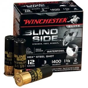 "Winchester Blindside Waterfowl .12 Gauge (3"") 2 Shot Steel (250-Rounds) - SBS1232"