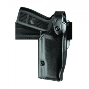 Safariland 6280 Mid-Ride Level II SLS Right-Hand Belt Holster for Kimber Custom TLE/RL in Black Basketweave (W/ Surefire X200) - 6280-5340-81