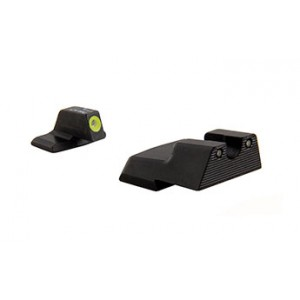Trijicon Inc Tritium Sights for H&K Green Frame Color Aluminum Base HK111Y