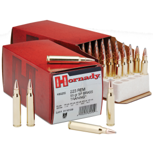 Hornady Custom .223 Remington/5.56 NATO Soft Point, 55 Grain (50 Rounds) - 80255