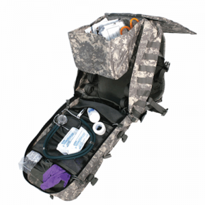 Special Operations Medical Bac  Special Operations Medical Back Pack ARPAT medical pack will open fully to display items in an emergency includes STRIKE webbing on three sides for modular gear attachment Made of 1000 denier nylon Top grab handle Outer cin