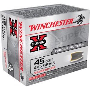 Winchester Super-X .45 Colt Silvertip HP, 225 Grain (20 Rounds) - X45CSHP2
