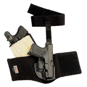 """Galco International Ankle Glove Right-Hand Ankle Holster for 1911 in Black (3"""") - AG424"""