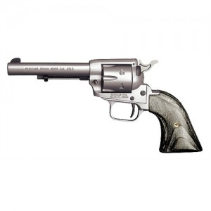 """Heritage Rough Rider .22 Long Rifle 6-Shot 4.75"""" Revolver in Silver Satin - RR22MS4"""