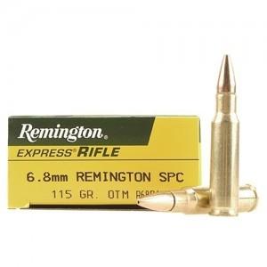 Remington Premier MatchKing 6.8 SPC Boat Tail Hollow Point, 115 Grain (20 Rounds) - RM68R1