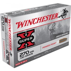 Winchester Super-X .270 Winchester Power-Point, 130 Grain (20 Rounds) - X2705