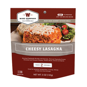 Wise Foods 05201 Outdoor Camping Pouches Cheesy Lasagna 6 Count