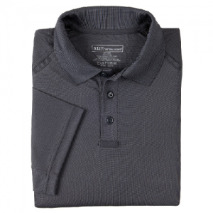 5.11 Tactical Performance Men's Short Sleeve Polo in Charcoal - 2X-Large