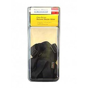 """Uncle Mike's Horizontal Ambidextrous-Hand Shoulder Holster for Large Autos in Black (3.75"""") - 8716-0"""