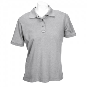 5.11 Tactical Tactical Women's Short Sleeve Polo in Heather Grey - Large