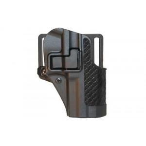 Blackhawk CQC Serpa Right-Hand Multi Holster for Ruger P85, P89 in Black Carbon Fiber - 410011BK-R