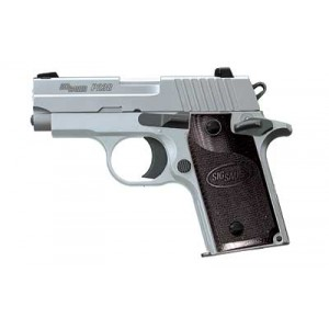 """Sig Sauer P238 Micro-Compact HD CA Compliant .380 ACP 6+1 2.7"""" Pistol in Stainless (SIGLITE Night Sights) - 238380HDCA"""