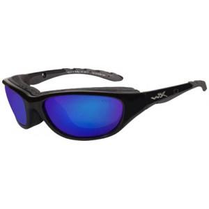 Wiley X Eyewear 698 Airage Safety Glasses Gloss Black/Pol