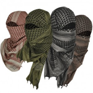 5ive Star - Desert Scarf Color: OD Green/Black - Crossed Guns