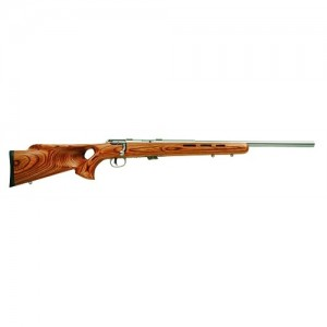 """Savage Arms Mark II BTVS .22 Long Rifle 5-Round 21"""" Bolt Action Rifle in Stainless Steel - 25725"""