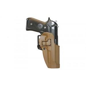 "Blackhawk CQC Serpa Right-Hand Multi Holster for Beretta 92, 96 in Coyote Tan Carbon Fiber (5"") - 410504CT-R"