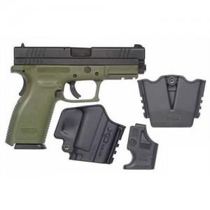 """Springfield XD Service 9mm 10+1 4"""" Pistol in Olive Drab/Black - XD9201SPO6"""