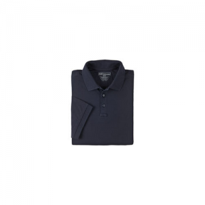 5.11 Tactical Tactical Men's Short Sleeve Polo in Black - Large