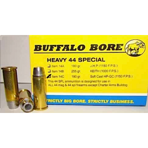 Buffalo Bore Ammunition .44 Special Soft Cast Hollow Point, 190 Grain (20 Rounds) - 14C/20